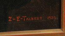"Image of Signature ""Z-E-TALBERT 1930."""