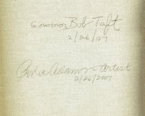 Image of Signatures of Taft and Adams