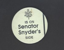Image of Political support button for Cooper Snyder