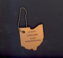Image of Leather key chain promoting candidacy of A.G.. Lancione