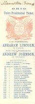Image of 1864 Ohio Union Presidential Ticket