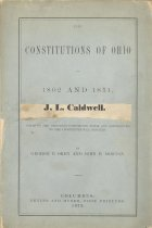 Image of J.L.Caldwell's book of the Ohio Constitutions.