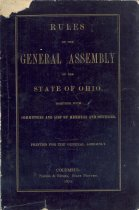 Image of 1871 Rules of the Ohio General Assembly