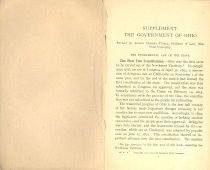 Image of Supplement: The Governement of Ohio
