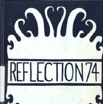 Image of RIverdale Elementray School Yearbook Reflections.  Donated by the 6th grade class June 10, 1974 to the Riverdale Library.  First Yearbook of Riverdale Elementary School K-6 grades.