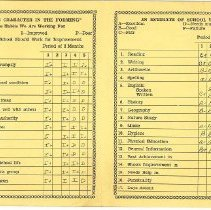 Image of Report card inside