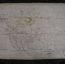 Image of Uranium! McAllister's New Uranium and Mineral Map of the Nine Western State