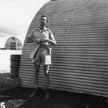 Image of 11.79.552 - TR-545   2d Lt. Leon Smith on Tinian.