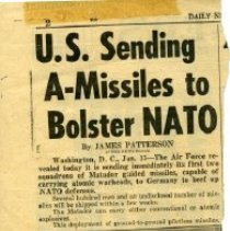 Image of U.S. Sending A-Missiles to Bolster NATO