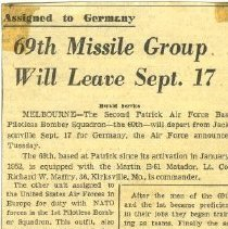 Image of 69th Missile Group Will Leave Sept. 17