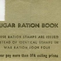 Image of Sugar Ration Book 851173