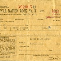 Image of War ration book