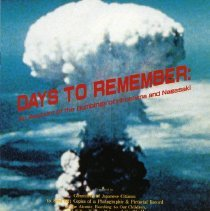 """Image of """"An Account of the Bombing of Hiroshima and Nagasak"""" booklet"""
