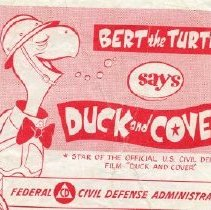 Image of Bert the Turtle Says Duck and Cover Comic Book