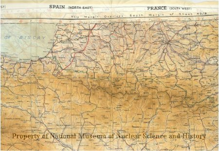 Map Of South West Spain.98 57 1 Silk Map Of Spain France And Portugal Army Air Force