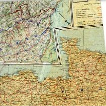 Map Of France And Holland Belgium.98 57 2 Silk Map Of German Swiss Frontier Spain France Belgium