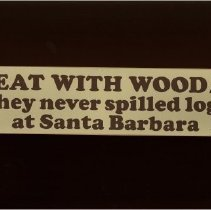 Image of HEAT WITH WOOD They never spilled logs at Santa Barbara