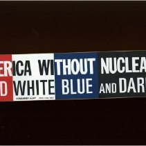 Image of AMERICA WITHOUT NUCLEAR RED WHITE BLUE AND DARK!