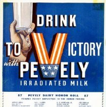 Image of Advertisement for Pevely Irradiated Milk