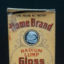 "Image of 14.45.74 - Printed on the Home Brand Radium Lump Gloss Starch box: ""The Finest Quality For Laundry Purpose. Packed for Griggs, Cooper & Co., St. Paul, Minn.  Reg.U.S. Pat Off.