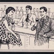 Image of Alphabet Scrap Book, Bar Scene - Meyer, Ernest A.