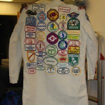 Image of Dr. Griff Ross' Laboratory Coat with Patches back