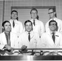 Image of Harold L. Stewart Photograph Collection - Residents at the NIH Clinical Center Pathological Anatomy Dept. 1968-69
