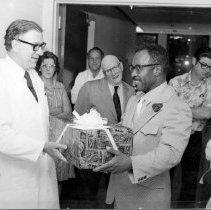 Image of Harold L. Stewart Photograph Collection - Retirement of NCI Laboratory of Pathology technician DeWitt Womack