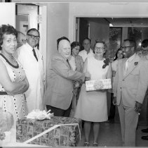 Image of Harold L. Stewart Photograph Collection - Retirement party for Pauline Case
