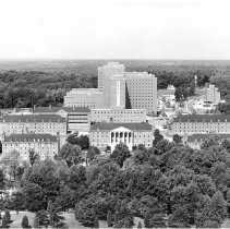Image of Aerial Views - Aerial view of the early NIH campus