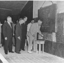 Image of Events at NIH - President Truman lays the cornerstone for the NIH Clinical Center