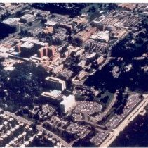 Image of Aerial Views - Aerial view of NIH buildings and grounds