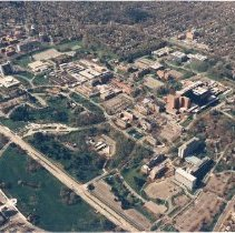 Image of Aerial Views - Aerial view of the National Institutes of Health buildings and grounds