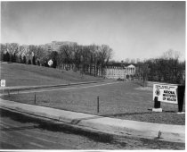 Image of Campus Buildings - Entrance to the National Institutes of Health, ca 1950s