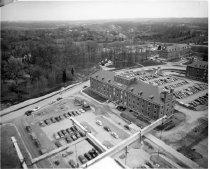 Image of Campus Buildings - Early view of Building 4 and the NIH campus buildings