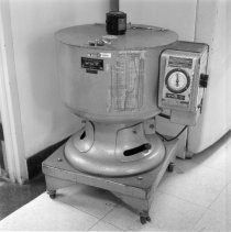 Image of Earl and Thressa Stadtman Collection - Dr. Thressa Stadtman's centrifuge in Building 3