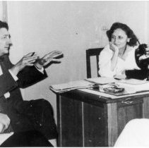 Image of Office of History Photograph Collection - Dr. Robert Huebner with Victor Shednoff, USSR Deputy Minister of Health
