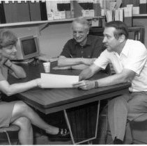 Image of Office of History Photograph Collection - Drs. Chanock, Purcell, and Hirsch at NIAID