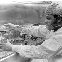 Image of National Cancer Institute - Preparation in the hot virus laboratory