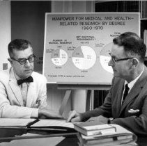 Image of NIH Directors - NIH Director Shannon with Joseph S. Murtaugh, circa 1958