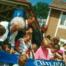 Image of First Lady and President Bush at Children's Inn opening