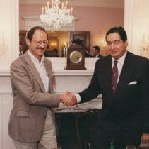 Image of NIH Directors - Harold Varmus and Fausto Alzati