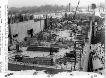 Image of Campus Buildings - December 1959 Building 31 construction progress