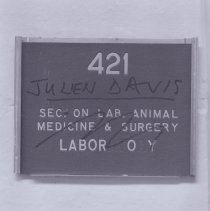 Image of National Heart Lung and Blood Institute - Building 3 Room 421 door sign