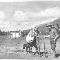 Image of Rocky Mountain Laboratory Photographs - Dr. Cornelius B. Philip and assistant doing field work