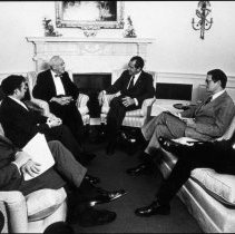 Image of National Heart Lung and Blood Institute - NHLBI Director Cooper meets with President Richard Nixon