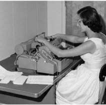 Image of Division of Research Grants - Office personnel typist