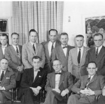 Image of NIH Directors - James A. Shannon and staff