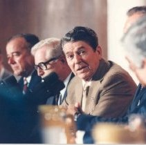 Image of Events at NIH - Campus visit by President Ronald Reagan