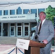 Image of Campus Buildings - Dedication of the Lowell P. Weicker Building